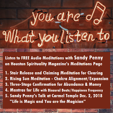 FREE Audio Meditations with Sandy Penny 5 Minutes to Peace