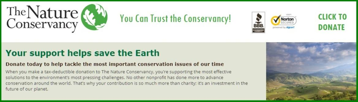 Support the Nature Conservancy