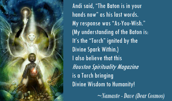 David LE Dear Cosmos lights the torch for Houston Spirituality