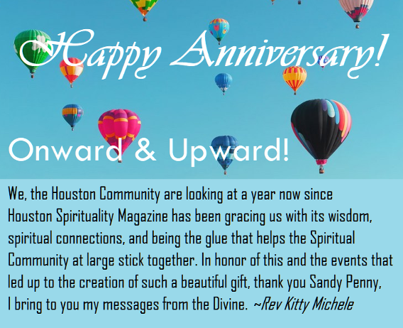 Happy Anniversary, Onward & Upward. Rev Kitty Michele