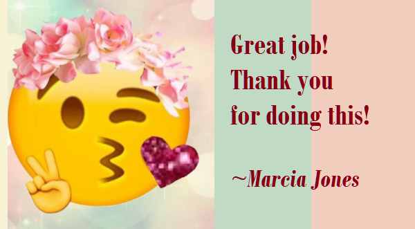 Marcia Jones Thank you.