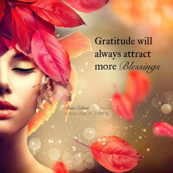 Gratitude attracts blessings meme
