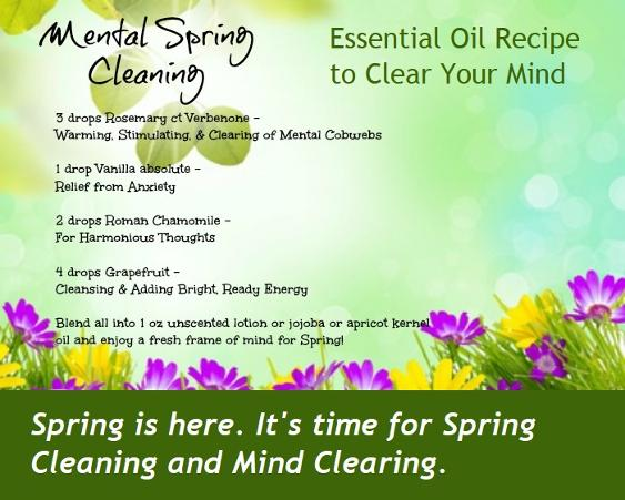 Mental Spring Clearing. Essential Oil Recipe for Meantal Clearing.