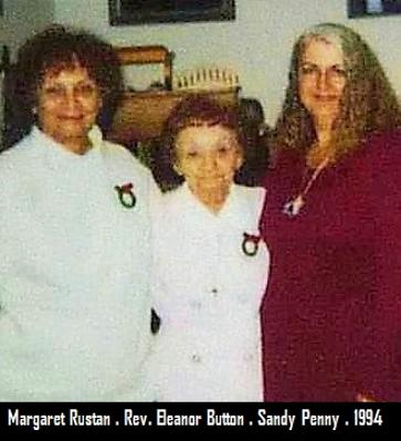 Margaret Rustan, Rev. Eleanor Button, Sandy Penny 1994